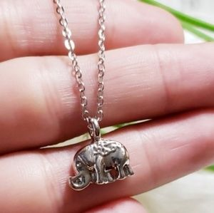Jewelry - 🔻30% OFF 2+ | 'LUCKY US!' Elephant BFF Necklace